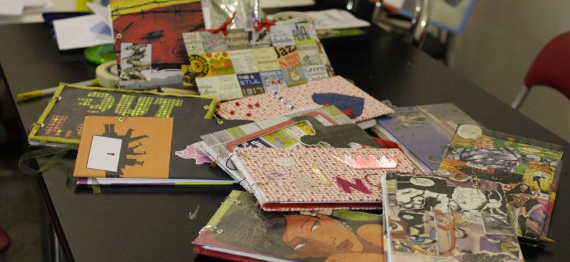 Τετράδια με χρησιμοποιημένα χαρτιά και εντυπωσιακά εξώφυλλα