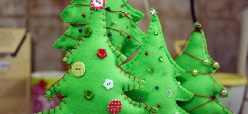 Χριστουγεννιάτικο δεντράκι με φελτ