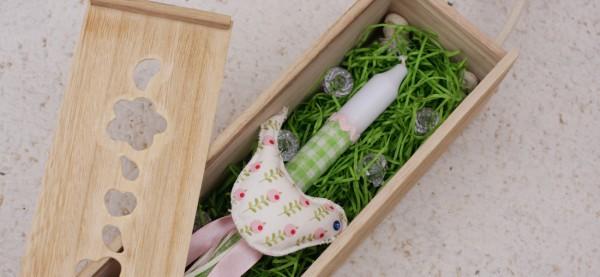 Ένα κουτάκι για την πασχαλινή λαμπάδα σας
