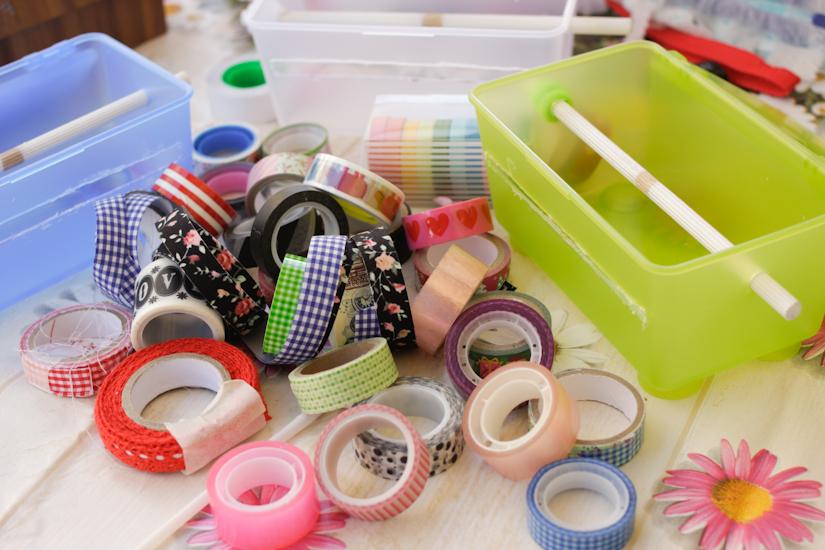 Μικρό μέρος της συλλογής μου από washi tape