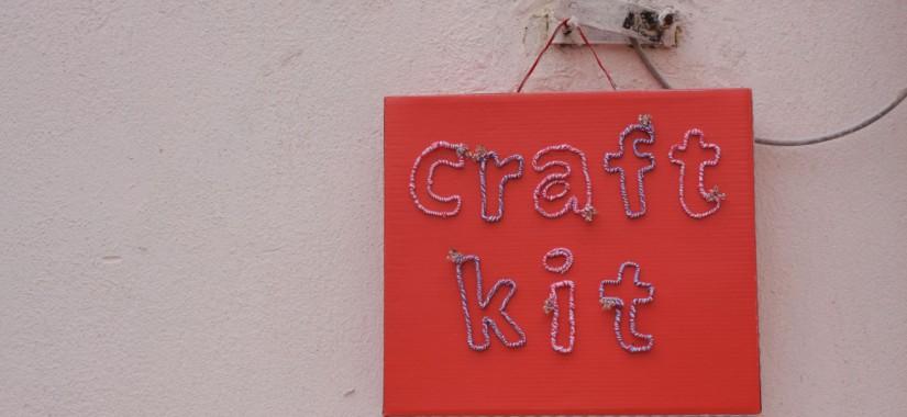 Το κόκκινο craft kit του in my closet