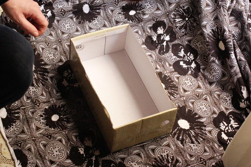 Μετράμε το ύφασμα με βάση το κουτί μας