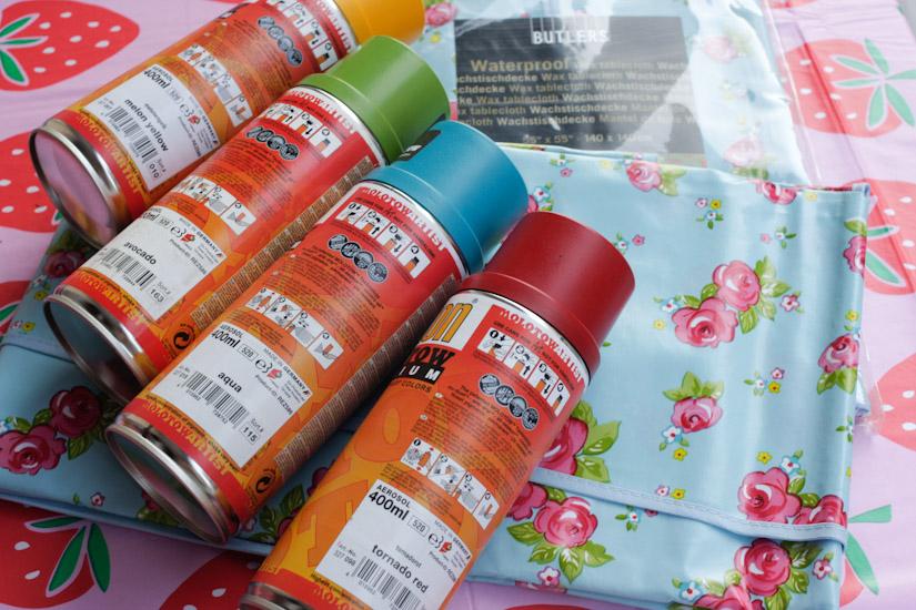 Ο μουσαμάς και τα χρώματα που διαλέξαμε για να τον ταιριάξουμε