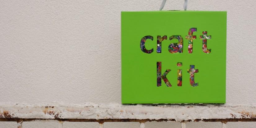 Κατασκευές με κομφετί όπως ένα craft kit