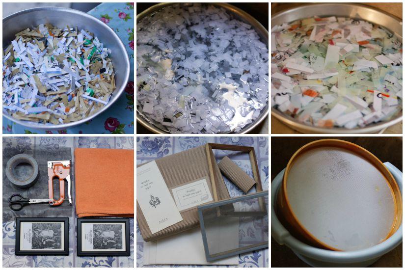 Η προετοιμασία και τα εργαλεία για την ανακύκλωση χαρτιού