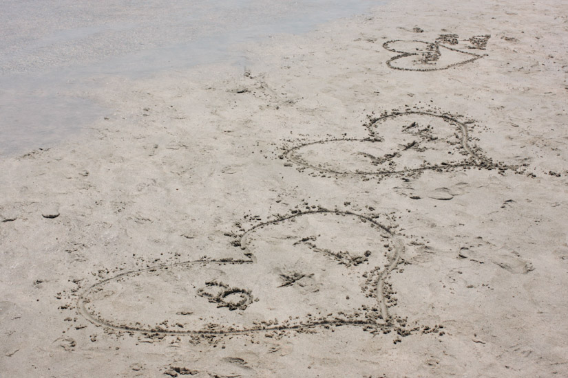 Μπορείτε πάντα να ζωγραφίσετε στην άμμο!