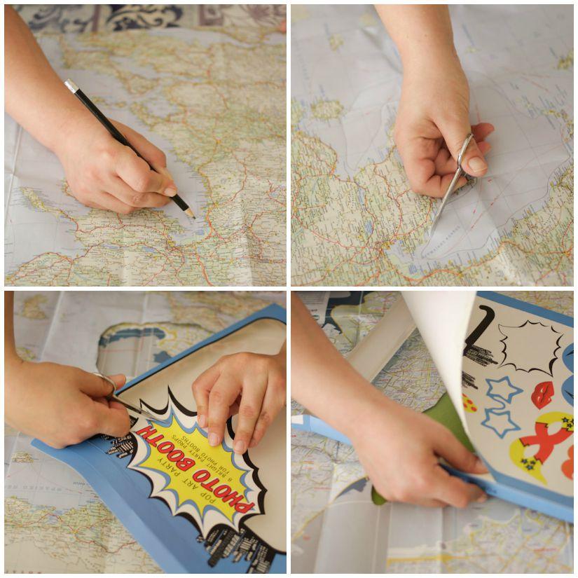 Προεργασία για το κουτί και τον χάρτη.