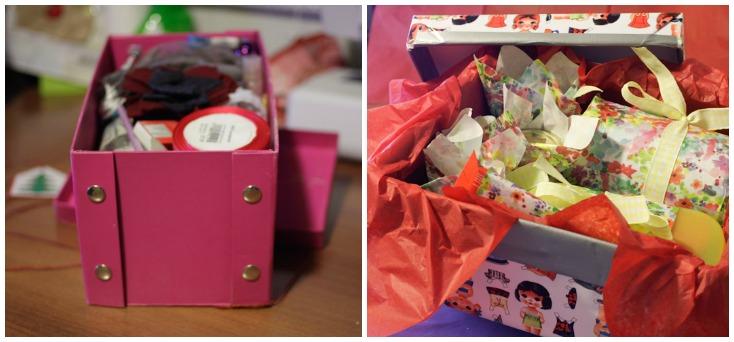 Αριστερά το πακετάκι που πήρα και δεξιά το πακετάκι που έστειλα