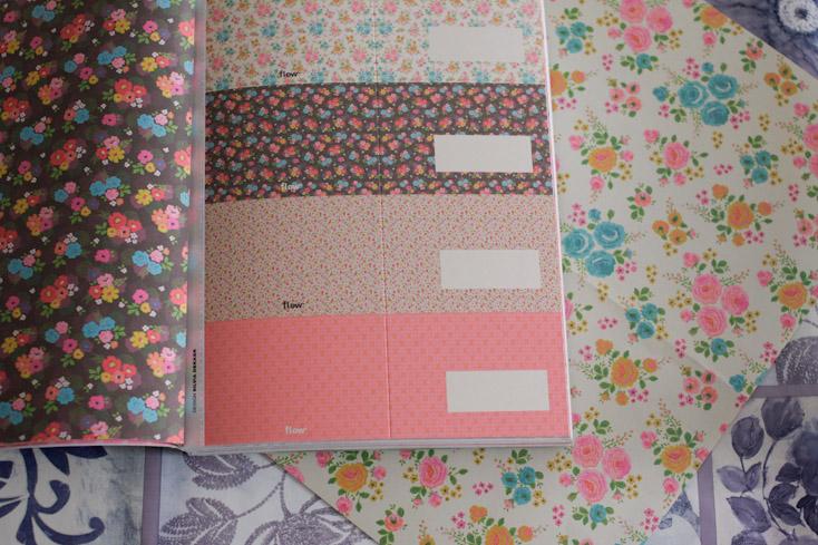 Αριστερά το πίσω μέρος του επιστολόχαρτου και δεξιά οι κάρτες