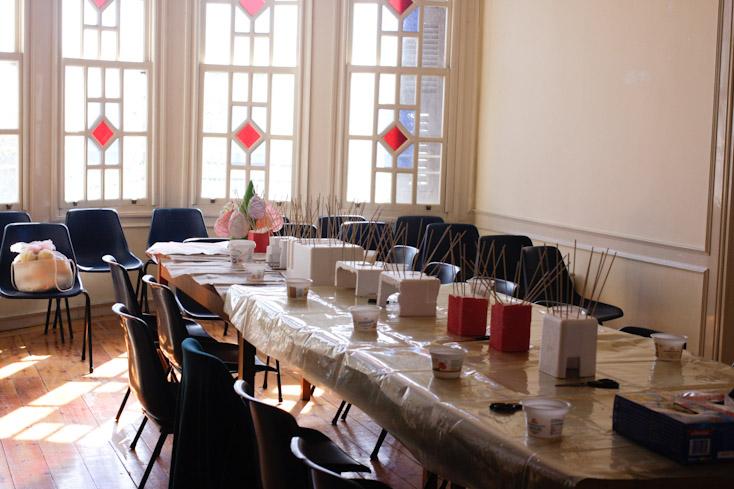 Το τραπέζι που ετοίμασα πριν έρθουν οι συμμετέχουσες