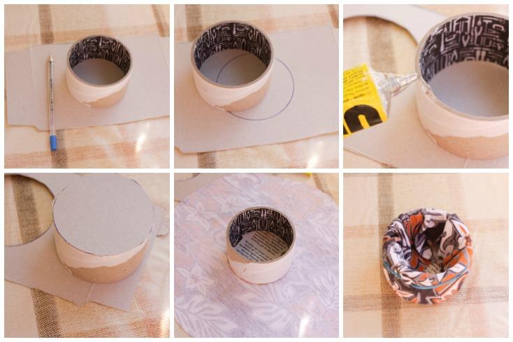 Διαδικασία βήμα-βήμα για την βάση της πελότας με ρολάκι από χαρτοταινία