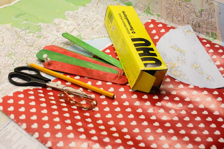 Υλικά και εργαλεία για τη βεντάλια