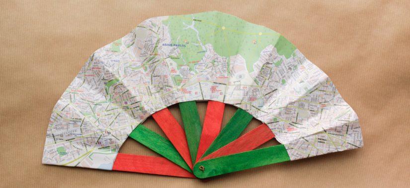 Βεντάλια από χάρτη και γλωσσοπίεστρα