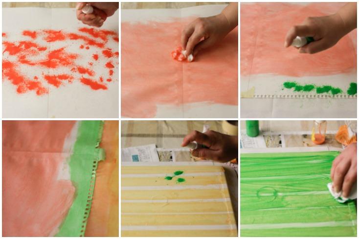 Βήμα-βήμα το βάψιμο του χαρτιού και της ταινίας