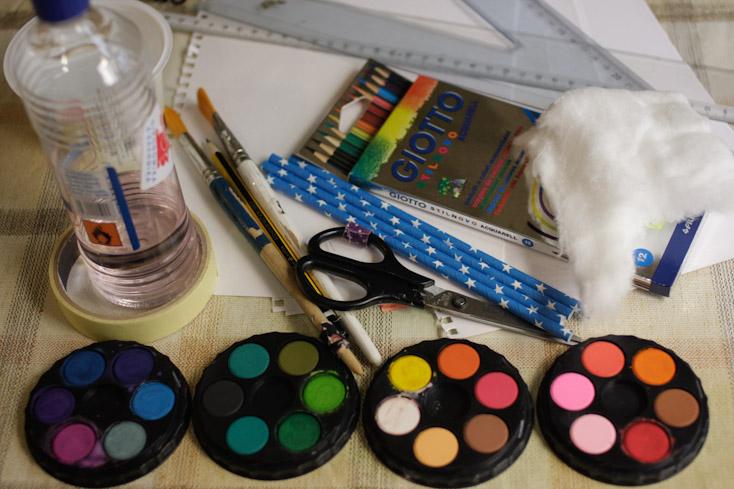 Τα υλικά και τα εργαλεία για τα φουρφουράκια μου