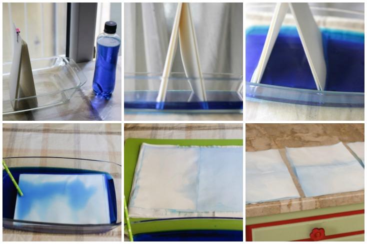 Πειραματισμοί με χρώματα ζαχαροπλαστικής που μοιάζουν πολύ με νερομπογιά