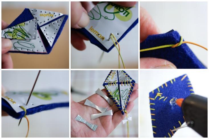 Η συναρμολόγηση των κομματιών με απλό ράψιμο