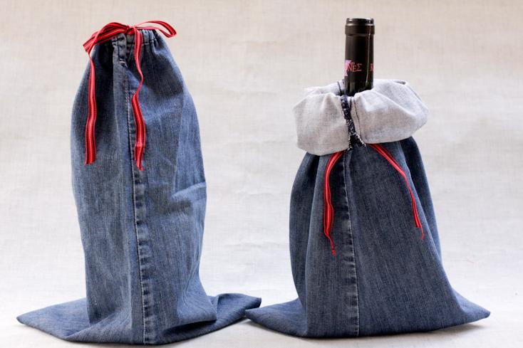 Θήκη για μπουκάλια με παλιό τζιν