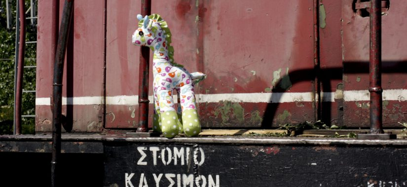 """Υφασμάτινη καμηλοπάρδαλη από το """"Sewn Toy Tales"""""""