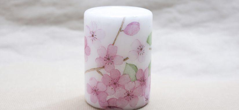 Διακόσμηση κεριού με χαρτοπετσέτες και κουτάλι