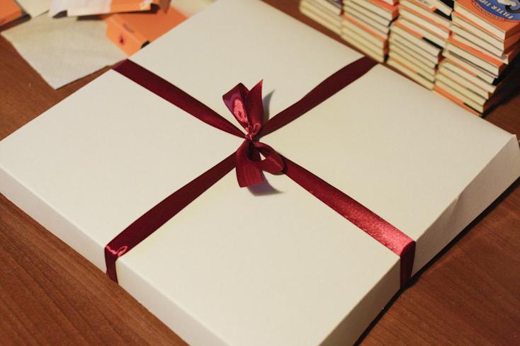 Η συσκευασία ήταν ένα κουτί πίτσας που ταίριαζε τέλεια στο μέγεθος του advent calendar