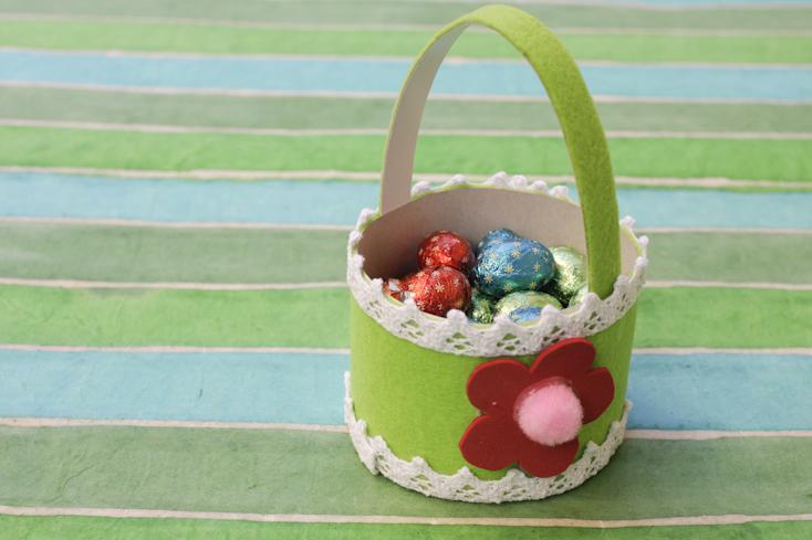 Ένα καλαθάκι με σοκολατάκια είναι ένα υπέροχο πασχαλινό δώρο