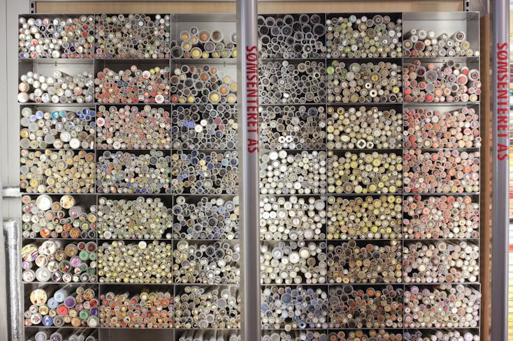 Sømsenteret: Ποθώ ένα τέτοιο τοίχο και σε ελληνικό μαγαζί! Γεμάτο κουμπάκια!